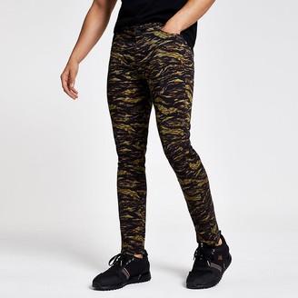 River Island Khaki camo skinny trousers