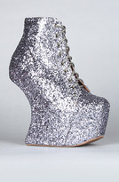 Jeffrey Campbell The Night Lita Shoe in Pewter Glitter (Exclusive)