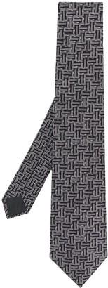 Lanvin Geometric Pattern Silk Tie
