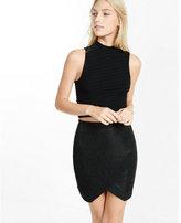 Express black sparkle asymmetrical mini skirt