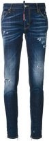 DSQUARED2 distressed skinny jeans - women - Cotton/Spandex/Elastane - 36