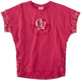 Diesel Metallic Rose And Lace Tee (Kids) - Raspberry-8