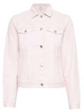 Dorothy Perkins Womens Pink Organic Denim Jacket, Pink