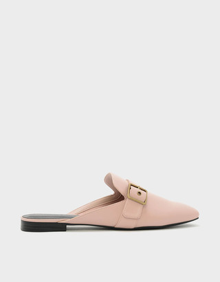 Charles & Keith Buckle Flat Mules