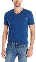 Paper Denim & Cloth Men's Hayden Short Sleeve Indigo V-Neck T-Shirt