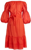 Vanessa Bruno Gils off-the-shoulder cotton-voile dress