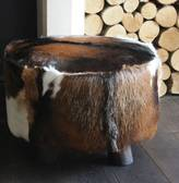 Ella James Large Cowhide Stool