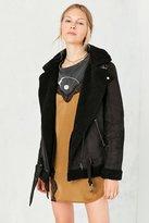 Silence & Noise Silence + Noise Tough Hooded Aviator Jacket