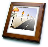 3dRose LLC ft_2114_1 Londons Times Funny Music Cartoons - Signs Signs Everywhere Signs - Framed Tiles