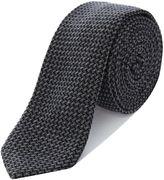 Hugo Crosshatch Weave Tie