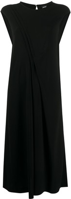 Aspesi Draped-Detail Midi Dress