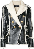 Balmain double breasted shearling jacket - women - Lamb Skin - 36