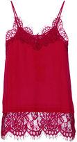 Twin-Set lace insert cami - women - Silk/Polyamide - 38