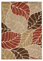 Orian Leaf Levels Beige Rug