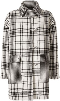 MSGM Plaid Print Coat