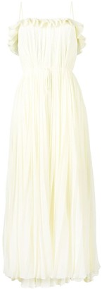 Adam Lippes Sleeveless Pleated Gown