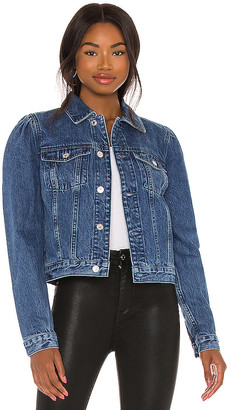7 For All Mankind Puff Sleeve Classic Jean Jacket. - size L (also