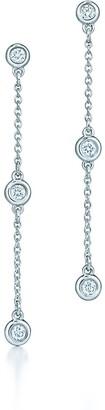 Tiffany & Co. Elsa Peretti Diamonds by the Yard drop earrings in sterling silver