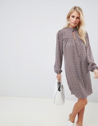 Vila vintage print shift dress-Multi