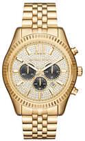 Michael Kors Chronograph Lexington Goldtone Bracelet Watch