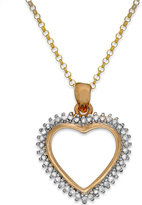 Townsend Victoria Diamond Heart Pendant Necklace in Sterling Silver or 18k Gold over Sterling Silver (1/4 ct. t.w.)