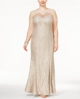 Xscape Evenings Plus Size Lace A-Line Gown