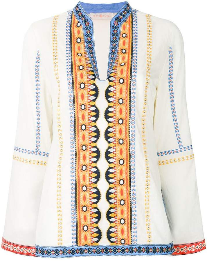 2ae3b336ad8 Tory Burch bohemian embroidered tunic - ShopStyle Longsleeve