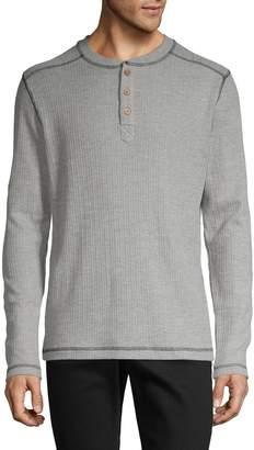 Vintage 1946 Textured Cotton-Blend Henley