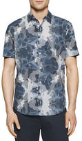 Calvin Klein Linear Ink Print Cotton Shirt