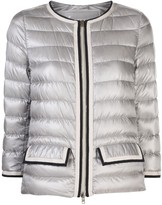 Herno contrast-trim quilted down jacket
