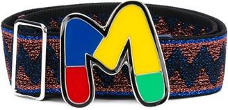 M Missoni Enamel Logo Belt