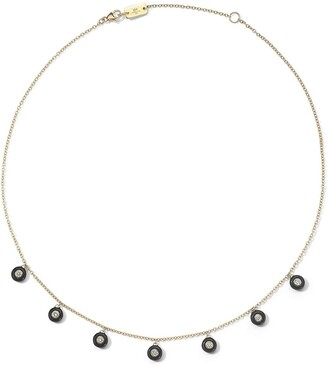 Ippolita 18kt yellow gold Carnevale Stardust 7-Stone diamond and ceramic necklace