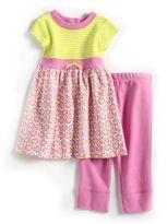 Offspring Newborn Girls 0-9 Months Two-Piece Cotton Dress Set
