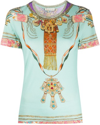 Etro crew neck jewel print T-shirt