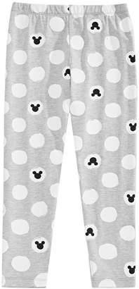 Disney Little Girls Printed Mickey Mouse Leggings