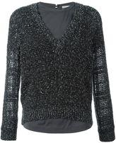 Brunello Cucinelli textured grained sweater - women - Silk/Spandex/Elastane/Cashmere/Polyamide - L
