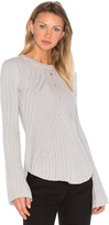 Autumn Cashmere Rib Bell Sleeve Sweater