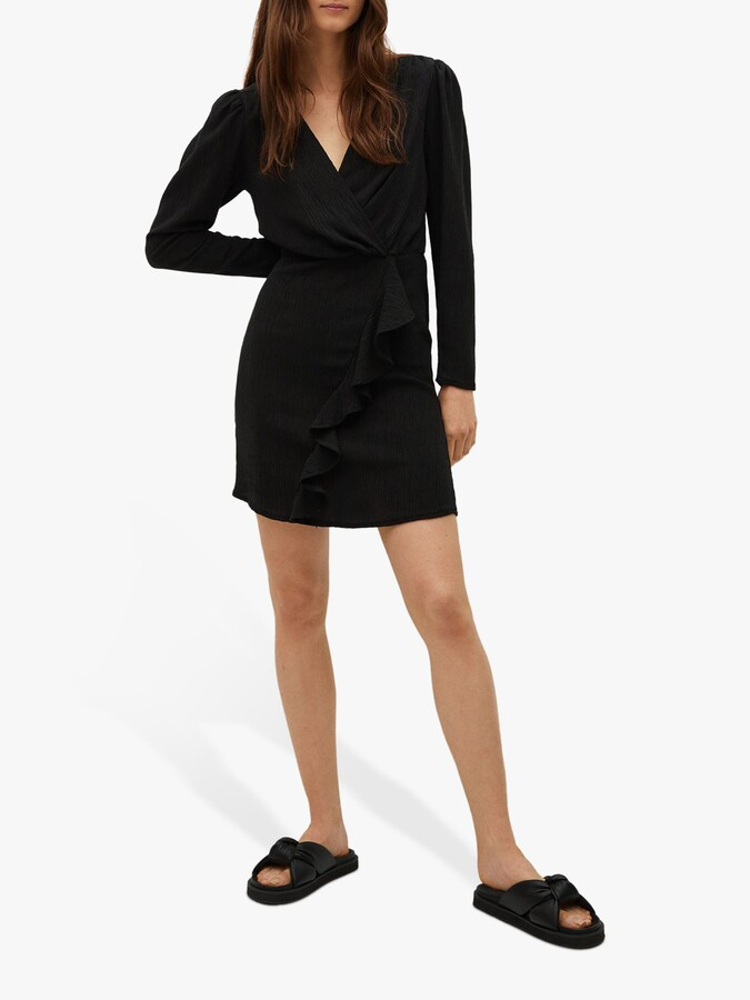 Thumbnail for your product : MANGO Textured Ruffle Detail Mini Dress