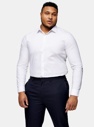 Topman BIG & TALL White Stretch Skinny Shirt*