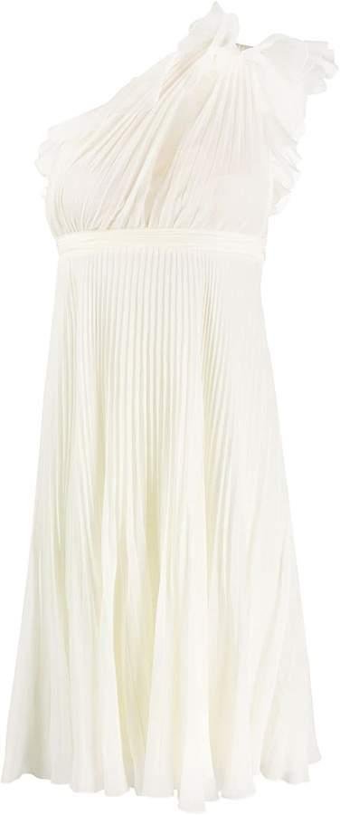 Giambattista Valli one-shoulder pleated dress