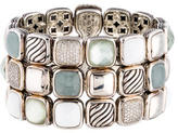 David Yurman Multigem & Diamond Chiclet Bracelet
