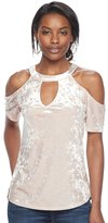 Juicy Couture Women's Velvet Cold-Shoulder Top