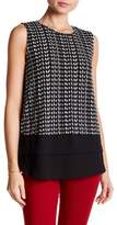 Vince Camuto Sahara Tracks Mix Media Blouse