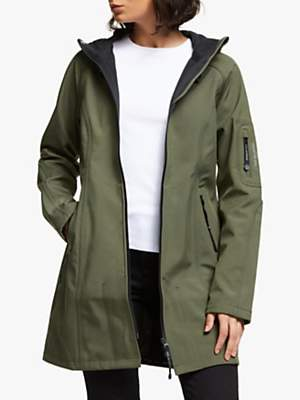Ilse Jacobsen Hornbæk 3/4 Length Hooded Raincoat