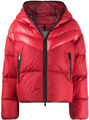 Moncler Contrast Padded Jacket With Logo Detailing