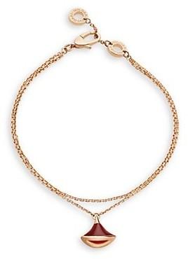 Bvlgari Divas' Dream 18K Rose Gold & Carnelian Pendant Double-Strand Bracelet