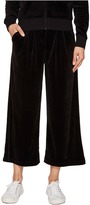 Juicy Couture Lightweight Velour Cropped Wide Leg Trousers Women's Casual Pants