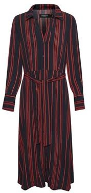 Soaked in Luxury - Soaked in Luxury Halima Shirt Dress in Night Sky - viscose | navy blue | Red / Hot Spicy | S (8) - Navy blue