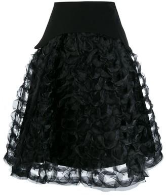 Comme des Garcons ruffled sculptural A-line skirt