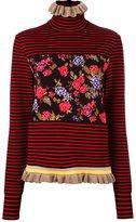 MSGM floral striped pullover - women - Cotton/Viscose/Polyamide - S